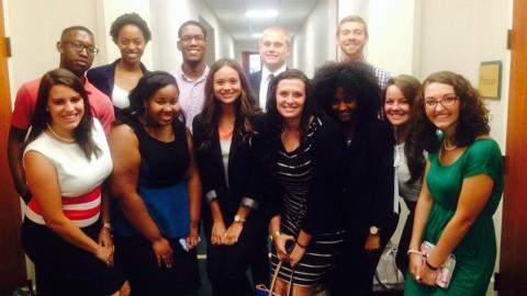 UNC Charlotte PRSSA students