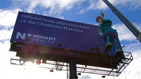 Novant Health Hugo billboard