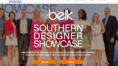 Belk Southern Designer Showcase Homepage
