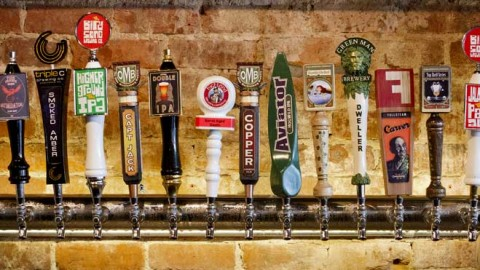 North Carolina craft beer taps